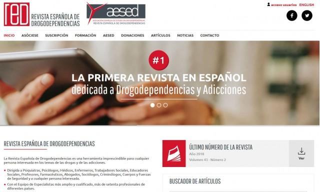 Nueva página web de la Revista Española de Drogodependencias